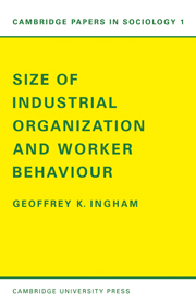 Size of Industrial Organisation and Worker Behaviour