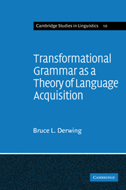 Transformational Grammar as a Theory of Language Acquisition