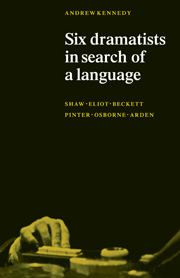 Six Dramatists in Search of a Language
