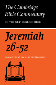 The Book of the Prophet Jeremiah, Chapters 26-52
