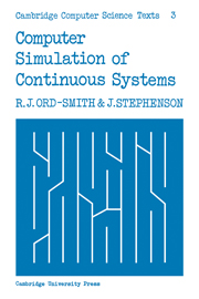 Computer Simulation of Continuous Systems