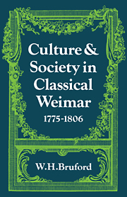 Culture and Society in Classical Weimar 1775–1806