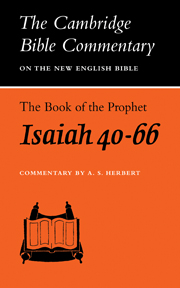 The Book of the Prophet Isaiah, Chapters 40-66