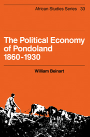 The Political Economy of Pondoland 1860–1930