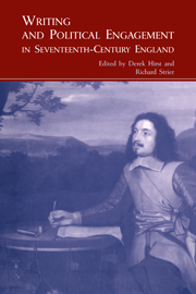 Writing and Political Engagement in Seventeenth-Century England