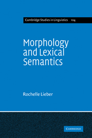Morphology and Lexical Semantics