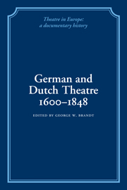 German and Dutch Theatre, 1600–1848