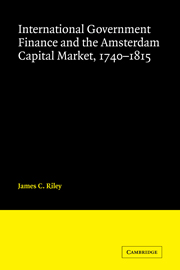 International Government Finance and the Amsterdam Capital Market, 1740–1815