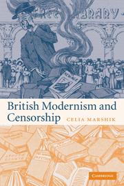 British Modernism and Censorship