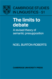 The Limits to Debate