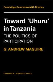 Toward 'Uhuru' in Tanzania