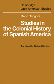 Studies in the Colonial History of Spanish America