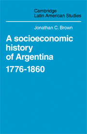 A Socioeconomic History of Argentina, 1776–1860