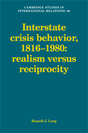 Interstate Crisis Behavior, 1816–1980