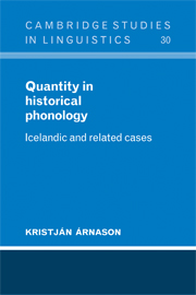 Quantity in Historical Phonology