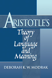 Aristotle's Theory of Language and Meaning