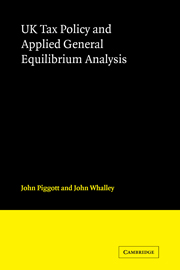 UK Tax Policy and Applied General Equilibrium Analysis