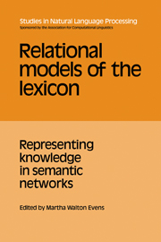 Relational Models of the Lexicon