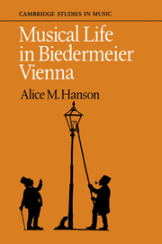 Musical Life in Biedermeier Vienna