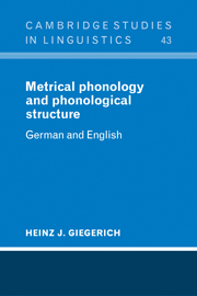 Metrical Phonology and Phonological Structure