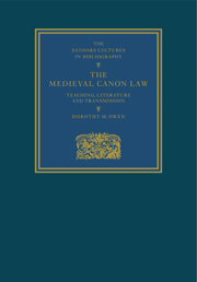 The Medieval Canon Law