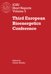 Third European Bioenergetics Conference