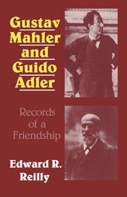 Gustav Mahler and Guido Adler