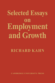 Selected Essays on Employment and Growth