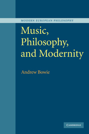 Music, Philosophy, and Modernity