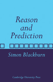 Reason and Prediction
