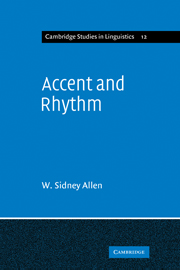 Accent and Rhythm