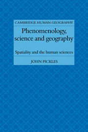 Phenomenology, Science and Geography