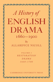History of English Drama, 1660–1900