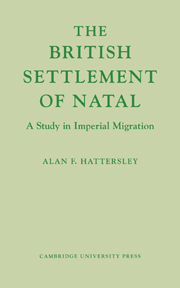 The British Settlement of Natal