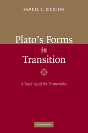 Plato's Forms in Transition