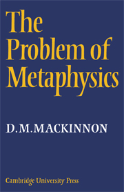 The Problem of Metaphysics