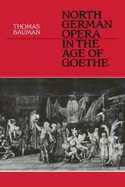 North German Opera in the Age of Goethe
