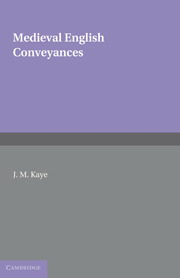 Medieval English Conveyances
