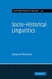 Socio-Historical Linguistics
