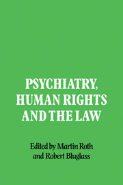 Psychiatry, Human Rights and the Law