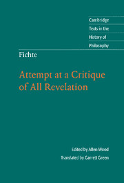 Fichte: Attempt at a Critique of All Revelation