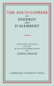 The Encyclopédie of Diderot and D'Alembert