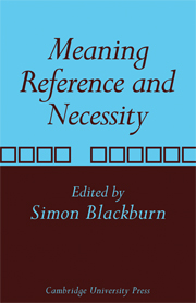 Meaning, Reference and Necessity