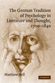 The German Tradition of Psychology in Literature and Thought, 1700–1840