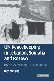 UN Peacekeeping in Lebanon, Somalia and Kosovo