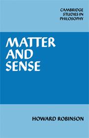 Matter and Sense