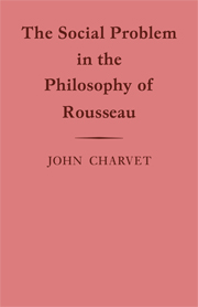The Social Problem in the Philosophy of Rousseau