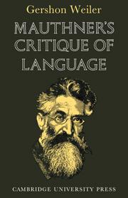 Mauthner's Critique of Language