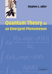 Quantum Theory as an Emergent Phenomenon