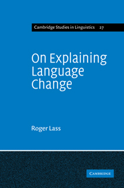 On Explaining Language Change